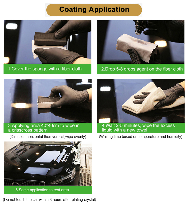super hydrophobic glass coating  ceramic car body coating 9h hardness ceramic protection for car