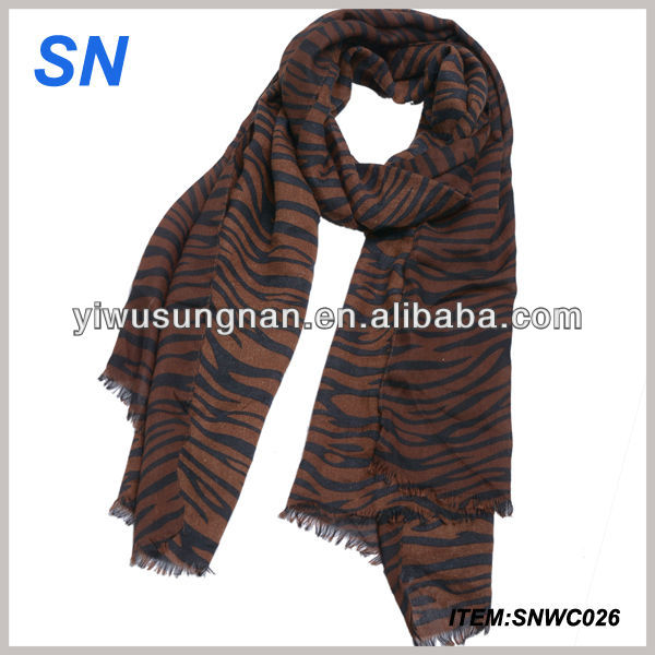 fashion tiger stripe pattern spring and autumn scarf for ladies