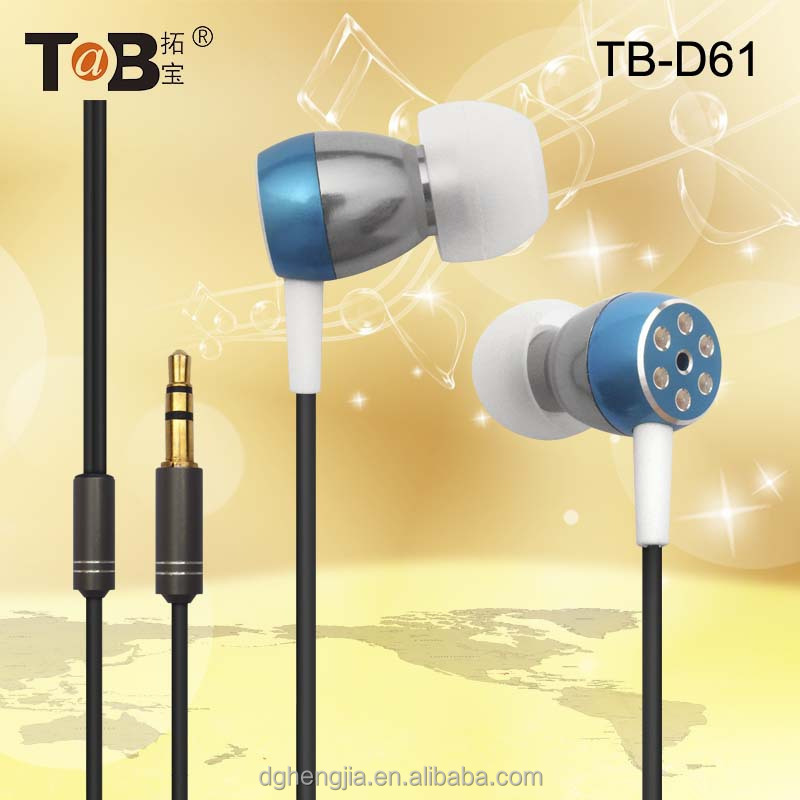 China wholesale stylish cute and cheap metallic earphones