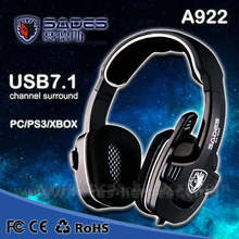 High Quality SADES SA922 3 in 1 Gaming Headset 7.1 Surround Sound Effect USB Game Headset with Mic for PC PS3 XBOX