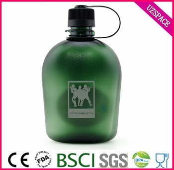 china alibaba BSCI 1 litre frosted plastice military water bottle