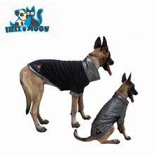 Kevlar Reflective Heated Positive And Negative Wear Reversible Fleece Large Dog Jumpsuit Coat Pet Jumper Winter Anxiety Jacket C