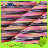 double knit stretch space dyed single jersey fabric