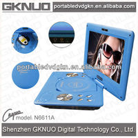 12 inch dvd with folding tv screen portable dvd