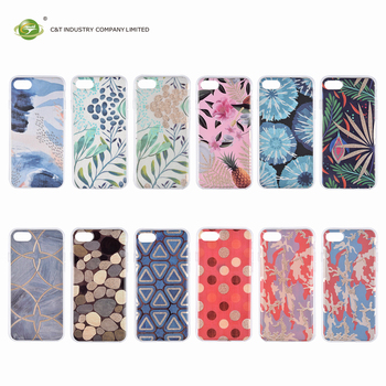 C&T IMD OEM Design Colorful Banana leaves Printing Abstract Hard Case For iPhone 7 Plus