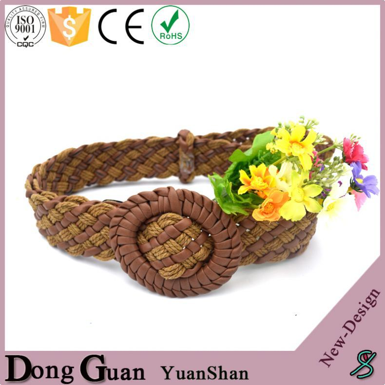2016 hot sale brass or silver maasai beaded belts 110*3.5cm pp/poly braided fabric belt latest genuine leather