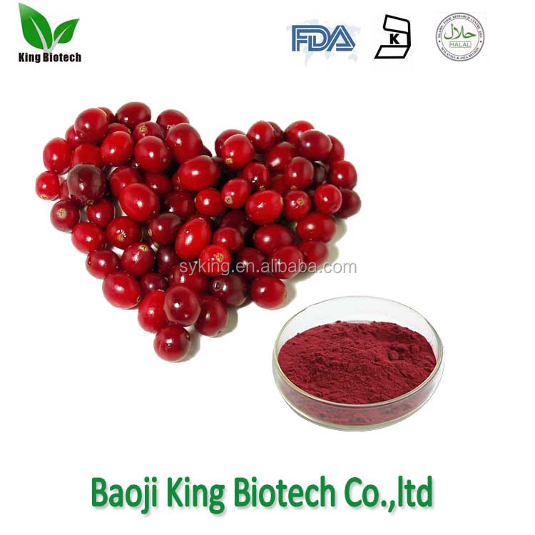 Factory Supply cranberry extract powder/cranberry juice extract/cranberry p.e with best price