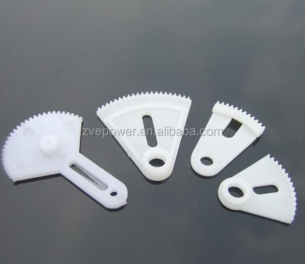 Multi-size 0.5 molded Plastic sector gear for toys