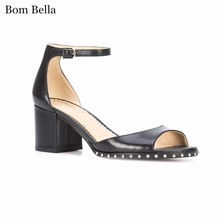 BBLA202 2018 new fashion designer womens stylish ladies sandles with ankle strap