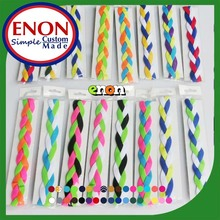 Trendy Fabric Cotton Silicone Braided Designer Skinny Elastic Baby Infants Toddlder Headbands