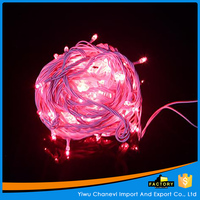 Flexiable pink christmas low voltage led rice light