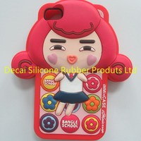 beautiful design your own silicone phone case with personalized pack