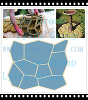 Recycled Rubber paving Patio Pavers/ cooblestone DIY Mould for garden