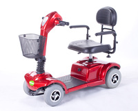 4 wheel folding mobility power knee scooter