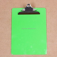 A4 bule plastic clipboard with butterfly clip