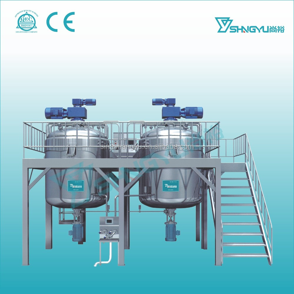Shangyu liquid detergent mixing tank/blender machine/cosmetic mixing tank for sale