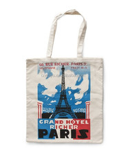 Customized printed Canvas tote Bag/ CANVAS TOTE BAG TRAVEL PARIS