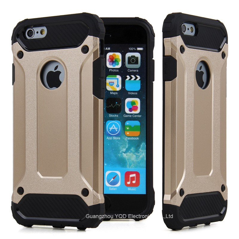 2016 New Arrival 2 in 1 Armor Hybrid Phone Case for iPhone 6s 6 plus
