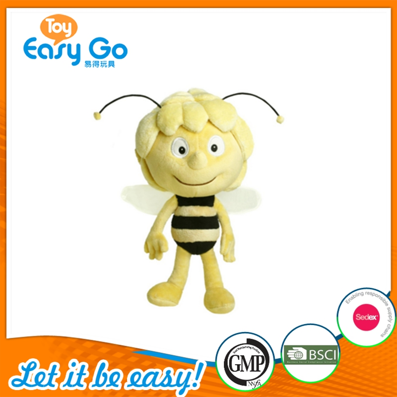 High Quality Maya Bee Plush Toy Custom Insect Bee Stuffed China Toy Factory