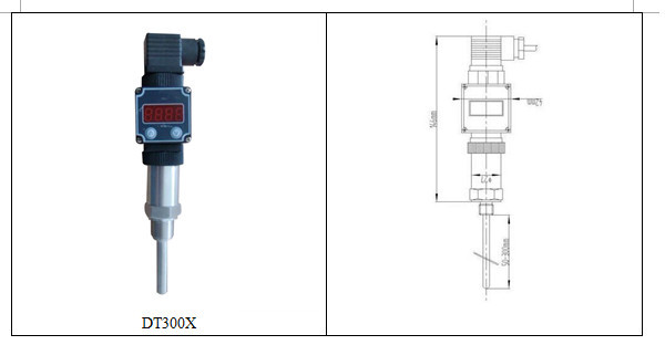 DT300 petroleum chemical and other fields Stainless steel 4-20mA or 1-5VDC Gas and liquid water temperature sensor