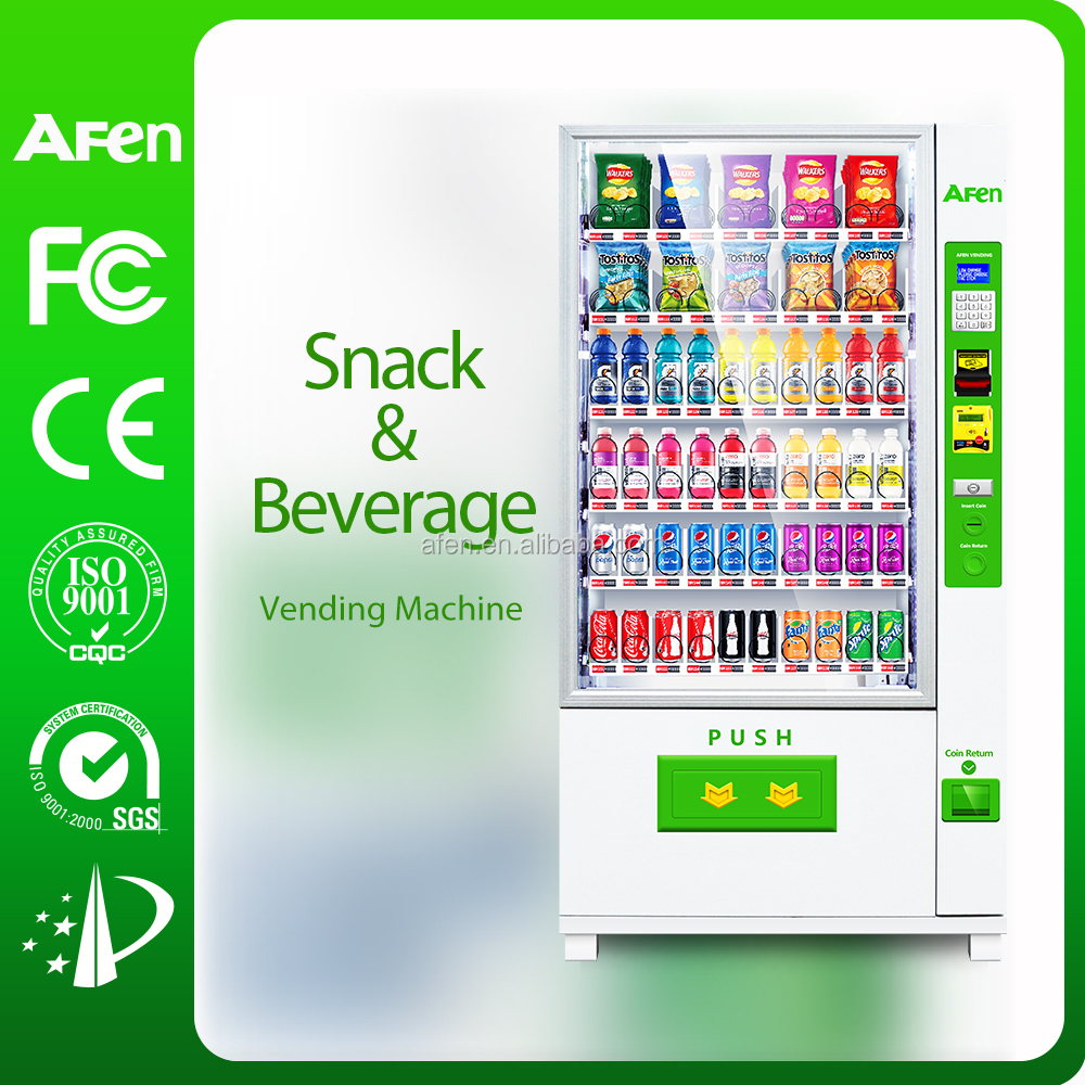Automatic vending machine for selling drinks&snacks