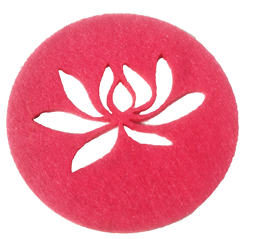 customized cheap felt placemat leaves coaster felt ball coaster