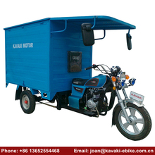 Powerful Motor Bike Gasoline 3 Wheel Enclosed Motorcycle 200cc Engine Three Wheeler Cabin Tricycles