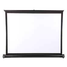 Factory supply desktop screen matt white foldable projection screen portable table screen