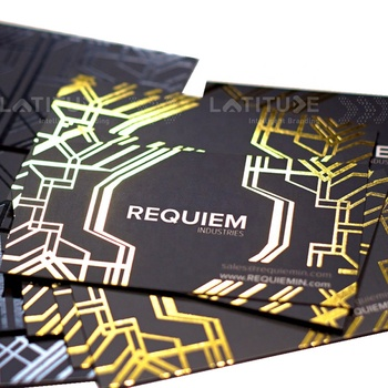 High quality gold foil hot stamping art paper business cards