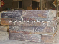 Rust AUTUMN ROSE NATURAL Stacked Stone Tibetan Slate Stacked Stone Tibetan Slate L Corner Stone WALL TILE