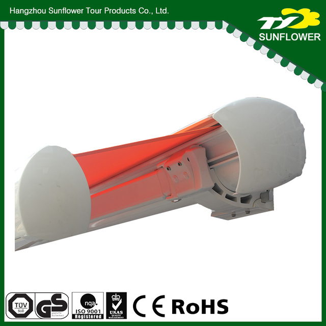 Full Cassette Motorized Anti-Uv fold arm awning