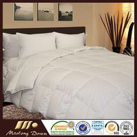 White Duck Down Quilt/ Comforter 100% Cotton Jacquard Fabric