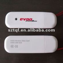 wholesale factory price modem usb cdma 3g evda wireless network card 2 colors white