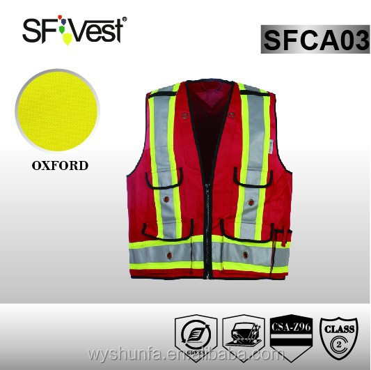 hi vis workwear vest with many pockets fashion safety vests