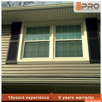 american style aluminium double hung window and up and down sliding window
