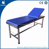 BT-EA012 Best price stainless steel fram 1-function hospital medical examination bed