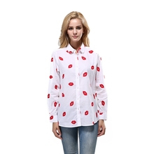 JS 25 Wholesale Fashion Career Blouse Long Sleeve Custom Printing Lady Shirt NZ003