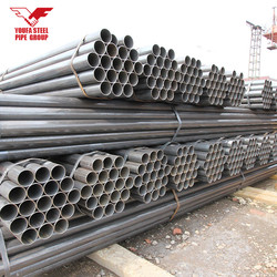ASTM A106 Grade B ERW welded round steel pipe tube for building material
