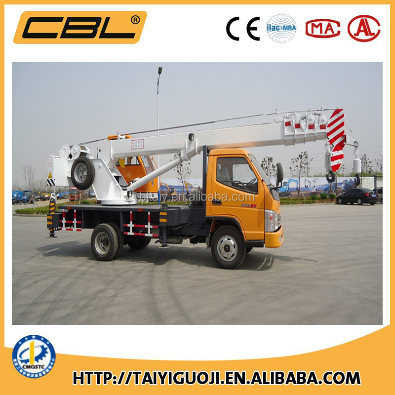 Truck crane 7 ton crane with lift chart capability