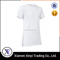 Custom Fashion Men's Big Tall T-shirts Wholesale with Sided Zippers