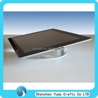 E book holder wholesale, tablet display stand manufacture, crystal diamond polished acrylic tablet security riser