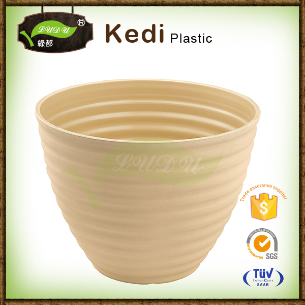 2016 new fashionable hot sale customzied garden round flower pot with 32 years experience