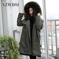 CX-G-P-22 new design fox raccoon rabbit fur coat popular real winter fur parka