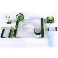 crystal hotel tableware set
