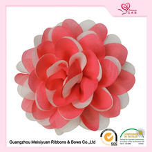 "Customized 4.5"" pink fabric flower for hats decoration"