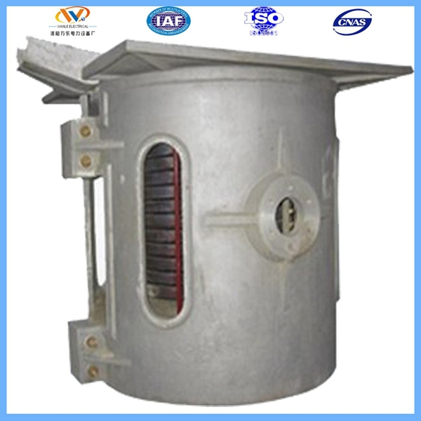 1ton small pig iron electric induction industrial furnace with aluminum shell