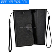 Black color with belt 5.5 inch wallet phone case for samsung galaxy core i8260 i8262