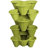 Plastic Movable Stackable Garden Planter