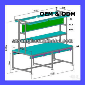 ABS flexible bar for workbench for production