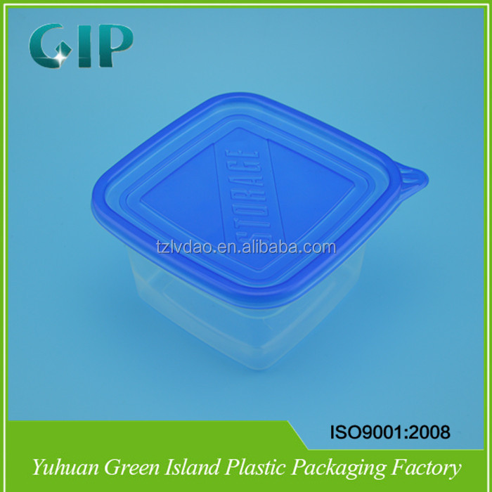 Takeaway Food Grade Transparent Clear Disposable Plastic Food Container With Lid